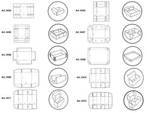 Scatole e vassoi automontanti - scatole GIFCO