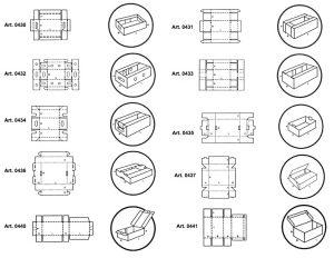 Vassoi fustellati automontanti - scatole GIFCO