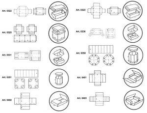 Scatole fondo coperchio octa-bin e scatole a croce - scatole GIFCO