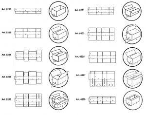 scatole di tipo americano - Codici GIFCO