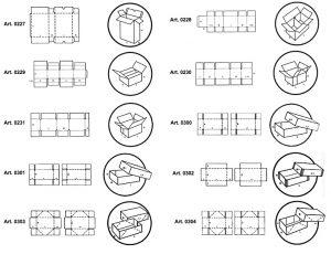 Scatole di tipo americano con separatori interni fustellati e scatole fondo/coperchio - scatole GIFCO