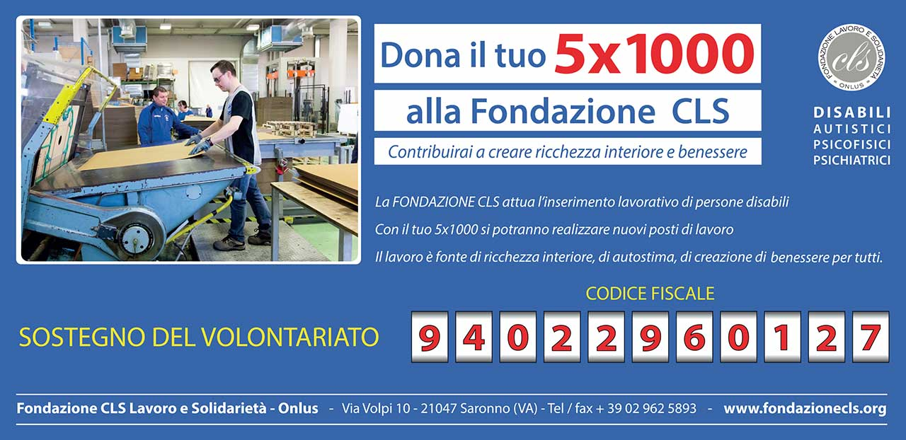 5x1000 Fondazione CLS 2019