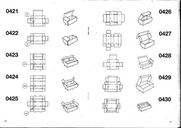 Scatole e vassoi fustellati automontanti